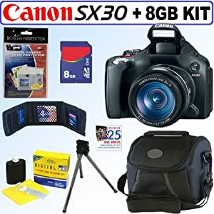 Canon Powershot SX30IS 14.1MP Digital Camera + 8GB Accessory Kit