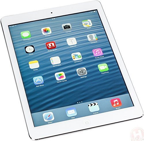 Factory Unlocked Apple iPad AIR (32GB, Wi-Fi + 4G LTE, White with Silver) (Card Air Ipad Sim)