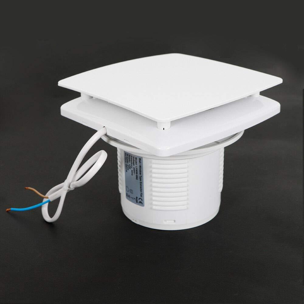 OUKANING Abluftventilator 100mm Badl/üfter Wand-Ventilator Deckenl/üfter Rohrl/üfter Ventilator Badezimmer