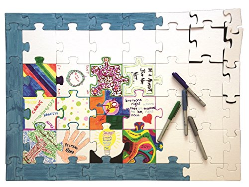 Blank Puzzle Pieces (Hygloss Products Blank Community Puzzle - Fun Group Activity - Great for Parties, Weddings, Classroom, Office & More - 20