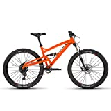"Diamondback Bicycles Atroz 3 Full Suspension Mountain Bike, 18"", Orange, 18""/Medium"