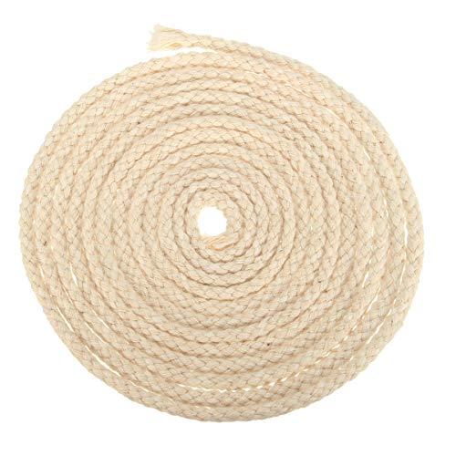 Cotton Wick Round - Cotton Rope Wicks - Long 3/16 Inch Diameter Round Cotton Wicks Burner for Oil Kerosene Alcohol Lamp (Cotton Lamp Wick)
