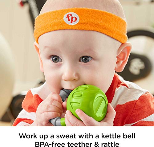 Fisher-Price Baby Biceps Gift Set, 4 fitness-themed baby