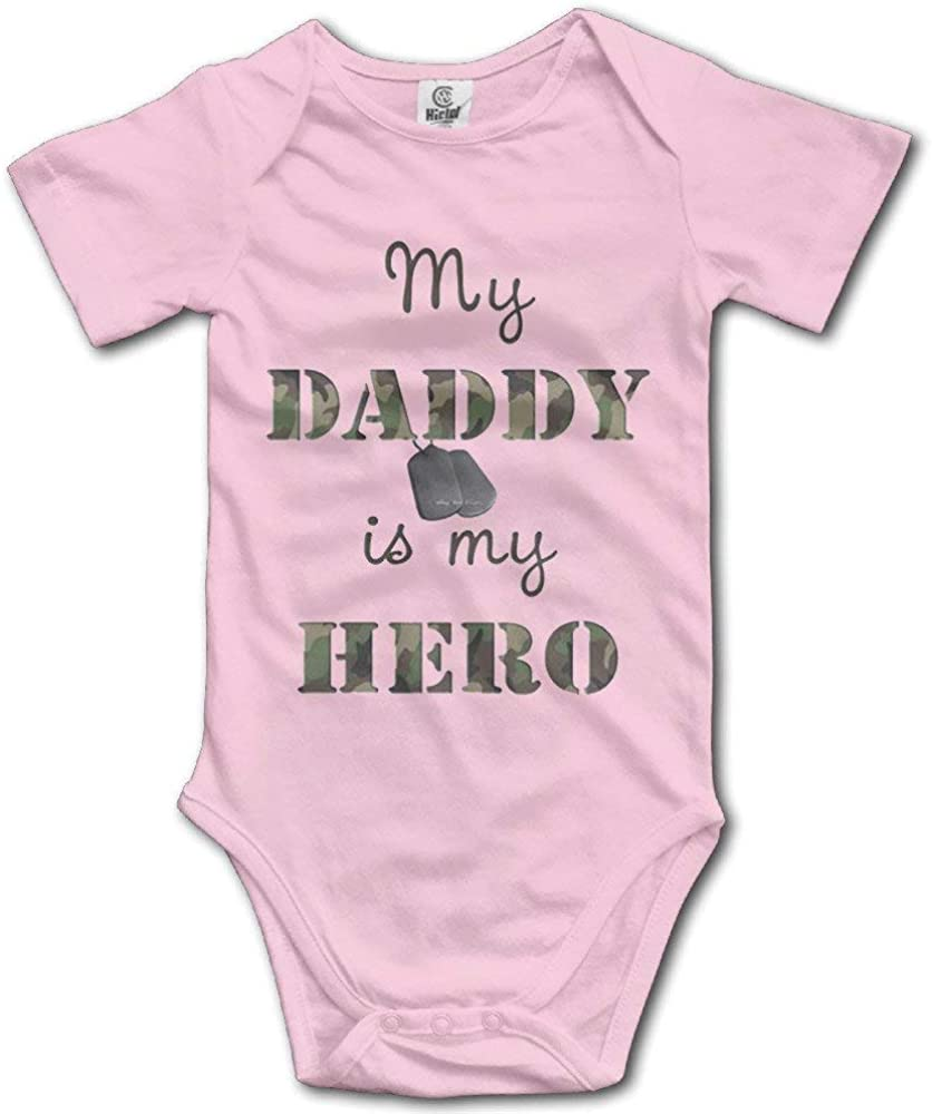 BATH LOVE My Daddy is My Hero Little Baby Short Sleeves Jumpsuits
