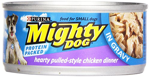 Purina Mighty Dog Wet Dog Food Hearty Pulled Style Chicken Dinner In Gravy - 5.5oz Can, 5.5 oz
