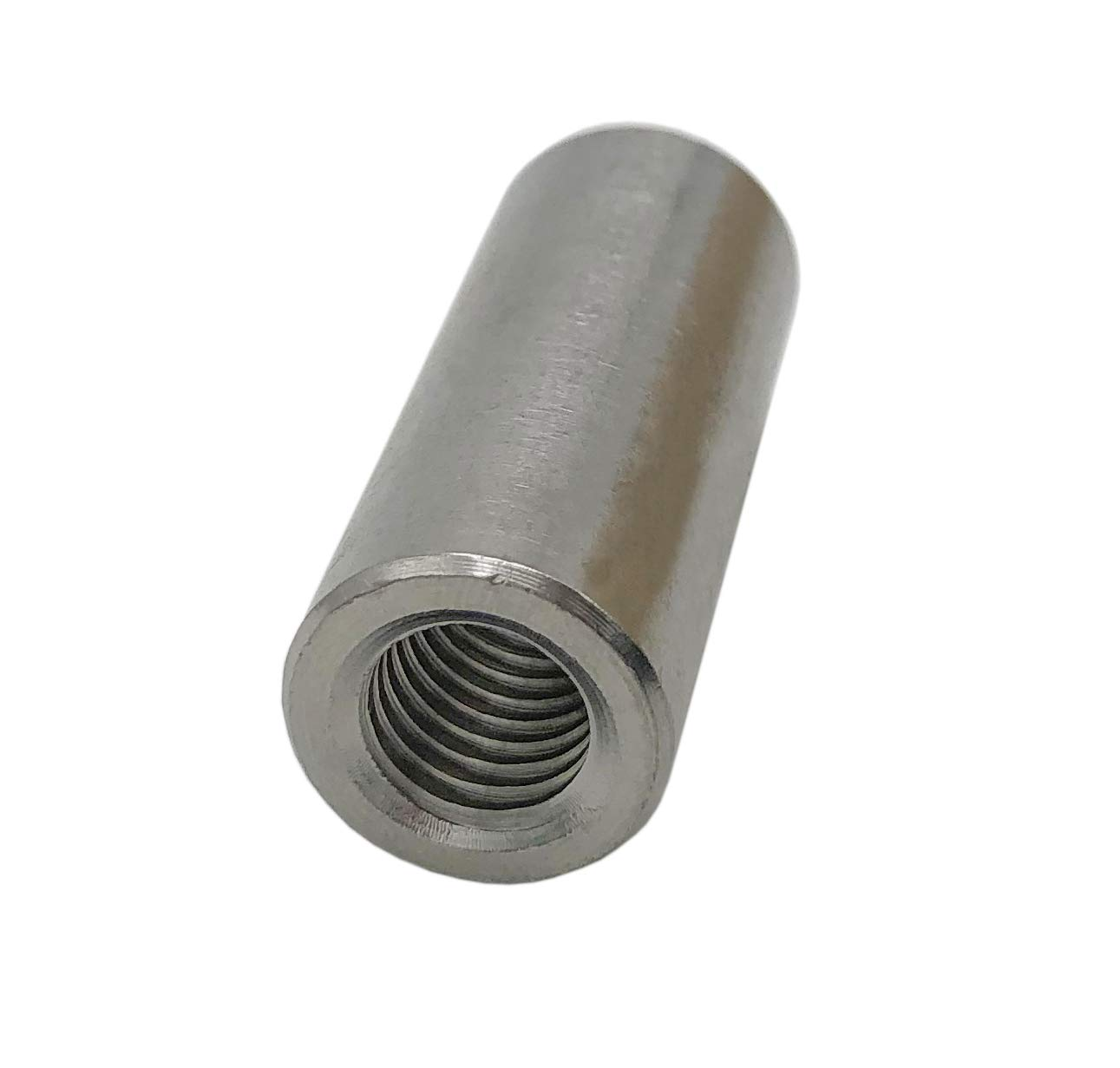 M10 X 40 304 Stainless Steel 5 Pack Round Coupling Connector Nuts Threaded Rose Joint Adapter