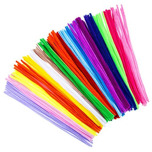 Aztec Road Wrap - Bememo 200 Pieces Pipe Cleaners Chenille Stems 6 mm x 12 Inch for Diy Art Craft, Assorted Colors