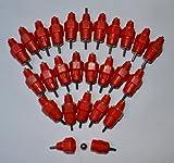 Samyo 25 Pack Fowl Water Nipple Drinker Chicken Feeder Stainless Steel 360 Angle Poultry Ducks Hen Turkeys Geese Screw in Style