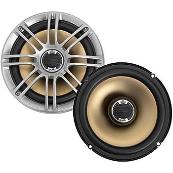 """Polk Audio DB651 6.5""""/6.75"""" 2-Way Marine Certified db Series Car Speakers with Liquid Cooled Silk Tweeters"""