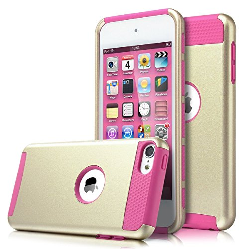 iPod Touch 6 Case, MCUK Dual Layer Hybrid Cover Silicone Rub