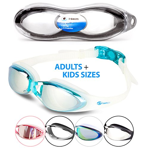 i-Sports Pro Anti-Fog, UV Protected Swim Goggle, - Goggles Swimming Best
