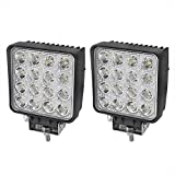 Liteway 2X80W 4Inch Cube Work Light Flood LED Light Bar Offroad 4WD Truck ATV UTV SUV Tractor Driving Lamp Daytime Running Light, 1 Year Warranty