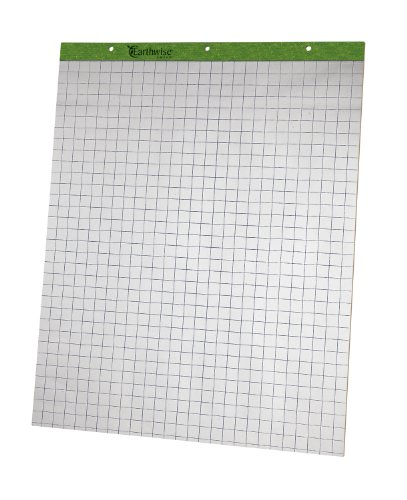 Ampad 24-032R Evidence Flip Chart Pads Ruled with 1-Inch Squares, 27x34, 50 Sheets Per Pad, 2 Pads Per Pack - Ampad Evidence Square