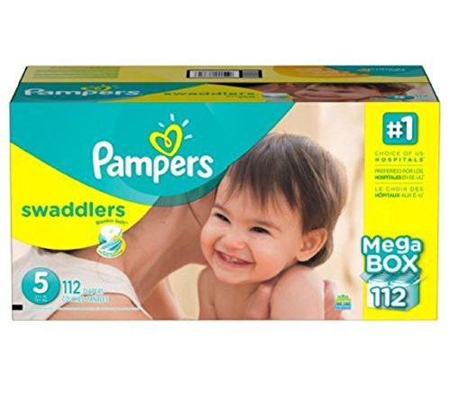 Pampers Swaddlers Diapers Size 5 Economy, Pack 124 Count, Our unique Absorb Away - New!!! by Gravitymystore