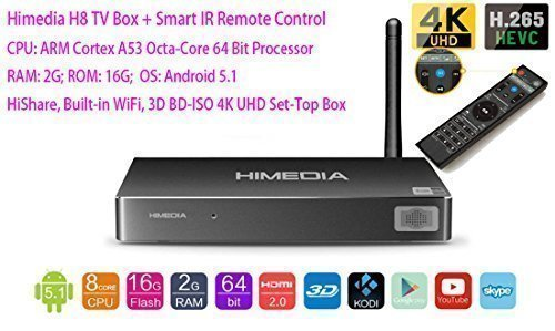 Luckymall HIMEDIA H8 Android TV Box: English