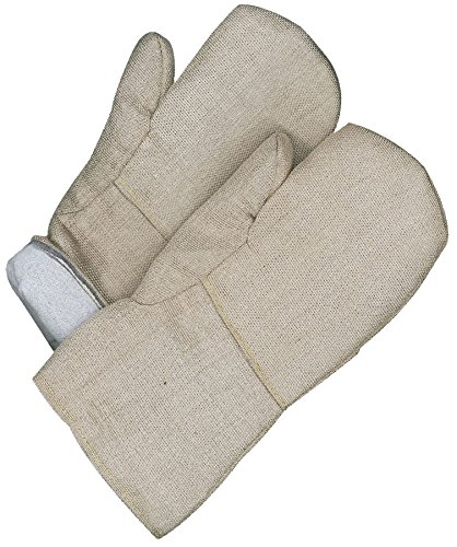 Bob Dale Gloves 639740TF Hi Heat Woven Fiberglass Mitt Melton Lining, by Bob Dale Gloves