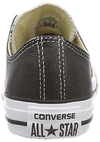 Converse Mens Chuck Taylor All Star Sneaker Bassa In Pelle Nera