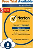 Software : Norton Security Deluxe – 5 Devices – Monthly Subscription
