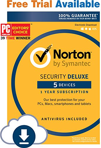 Norton Security Deluxe – 5 Devices – Monthly Subscription