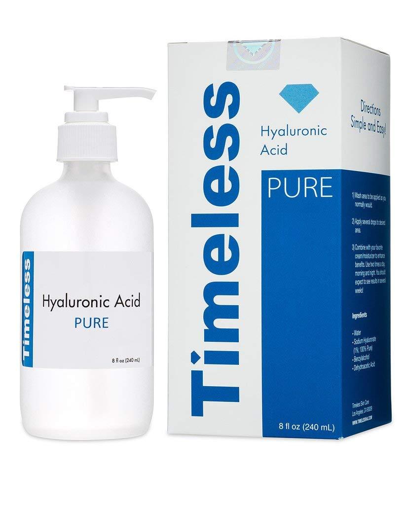 The Original Hyaluronic Acid Serum 100% Pure Refill 8 oz Timeless Skin Care HA-REFILL