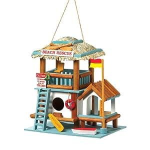 Gifts & Decor Lifeguard Station Wooden Outdoor Wood Bird House