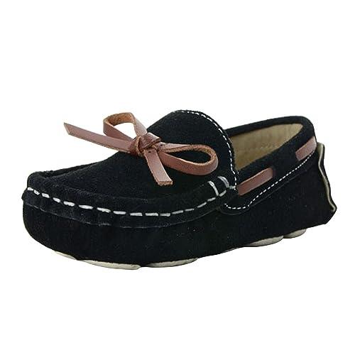Phorecys - Mocasines de Ante para Niño, Color Negro, Talla 25 EU Niño: Amazon.es: Zapatos y complementos
