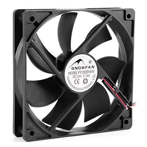 uxcell 120mm x 25mm 24V DC Cooling Fan Long Life Sleeve Bearing Computer Case Fan