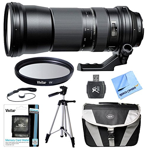 Tamron SP 150-600 mm F/5-6.3 Di VC USD Zoom Lens All Inclusive Bundle for Canon Includes Bonus Xit 60'' Full Size Photo / Video Tripod, and More by Beach Camera