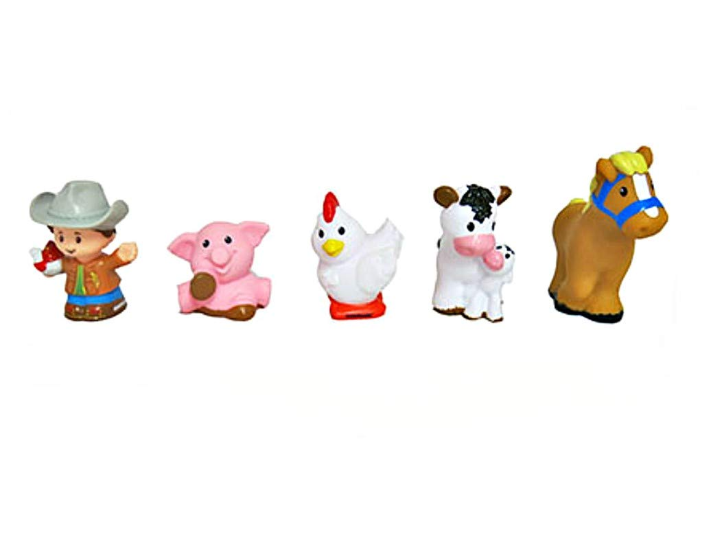 Fisher-Price Little People Animal Friends Farm Figures – Farmer, Pig, Chicken, Cow, and Horse