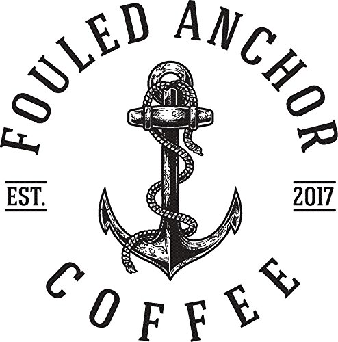 Ground Organic Coffee by Fouled Anchor, Dark Roast, Fair Trade, Great Tasting Small Batch Roasted, 11.5 oz