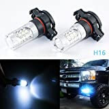led 5202 fog lights 8000k - 2x Ice Blue 10000K 80W Cold White H16 5202 2504 LED Bulbs for Daytime Running Fog Lights