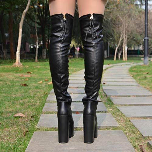 High Heels Winterschuhe Elastische Stiefel Hohe Hohe Hohe Stiefel Hohe Stiefel Hohe Stiefel. d3401c