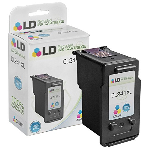 LD Remanufactured Canon CL-241 / 5209B001 / CL-241XL / 5208B001 High Yield Color Ink Cartridge for PIXMA MG2120, MG3122, MG3222, MG3522, MX372, MX432, MX452, MX459, MX472, MX479, MX512, MX522