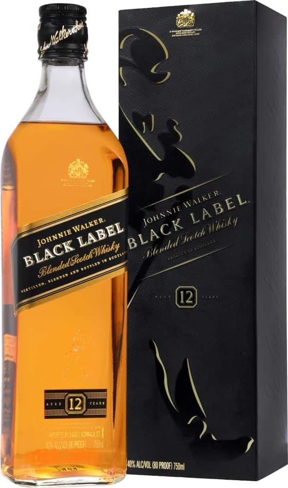 Johnnie Walker Black Label Scotch Whisky 12 Year