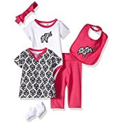 Yoga Sprout Baby 6 Piece Layette Set, Damask Collection, 0-3 Months
