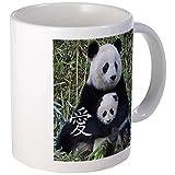 11 ounce Mug - Chinese Love Mom  and  Baby Pandas Mug - S White