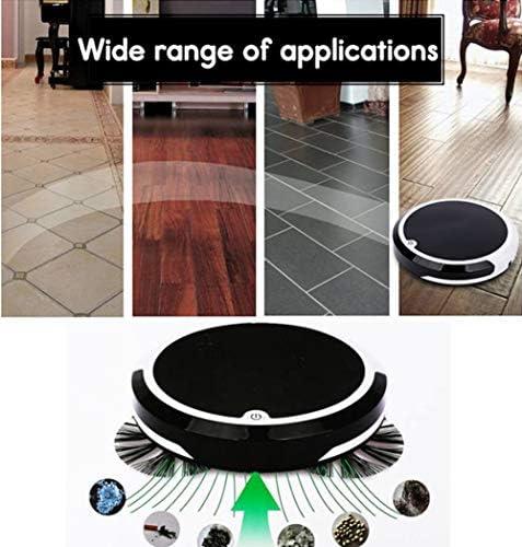 XRQ Robot Aspirateur, Robotique 1800Pa Aspirateur (Slim) Forte Aspiration, Nettoyage Silencieux Modes Multiples, Aspirateur, Pet Hair, Hard Floor, Moyen-Pile Tapis