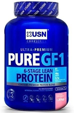USN Proteína pura GF1 - fresa 1kg: Amazon.es: Deportes y aire ...