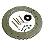Stens 150-435 Metal Flywheel Ring Gear, Replaces Briggs and Stratton: 392134, 399676, 696537, Aluminum Gear, Includes Mounting Hardware and Starter Gear