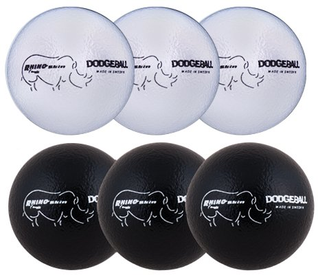 "Champion Sports Rhino Skin Dodgeball Set, Black/White - 7"""