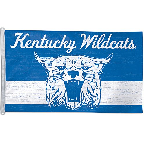 NCAA Kentucky Wildcats Cat College Vault Flag Deluxe, 3 x 5-Foot