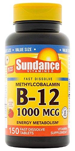 UPC 840093103048, Sundance Methylcobalamin Vitamin B-12 1000 mcg Fast Dissolve Tablets, 150 Count