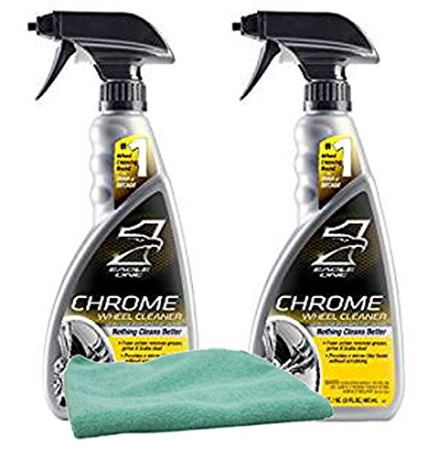Eagle One Chrome Wheel Cleaner (23 oz.) Bundle with Microfiber Cloth (3 Items)