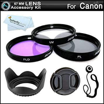 58mm Compatible New Circular Polarizer CPL Filter for Kit for Canon EOS Rebel T7i SL2 77D