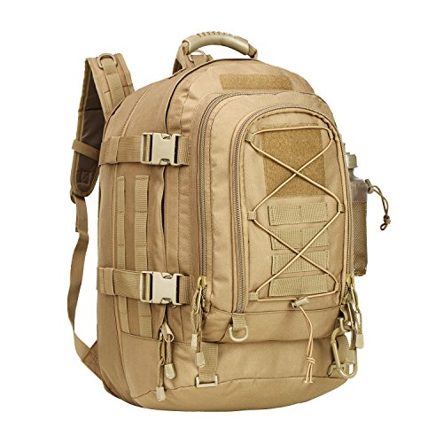 PANS Military Expandable Travel Backpack Tactical Waterproof Outdoor 3-Day Bag,Large,Molle System for Travel,Hiking,Camping,Trekking,Outdoor Sports,Work(tan)