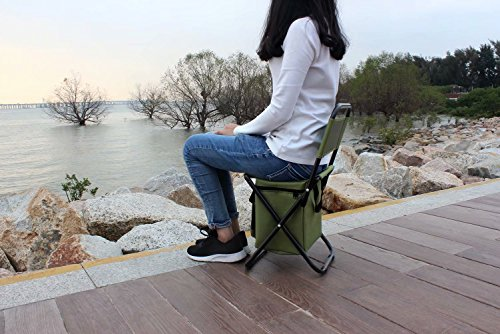 BeGrit Multi-Purpose Cooler Chair Folding Stool with Cooler Bag for Hiking Fishing Camping Picnic Backpacking by BeGrit (Image #7)