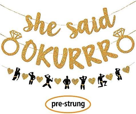 Amazon.com: Gold She Said Okurrr Banner – Juego de ...