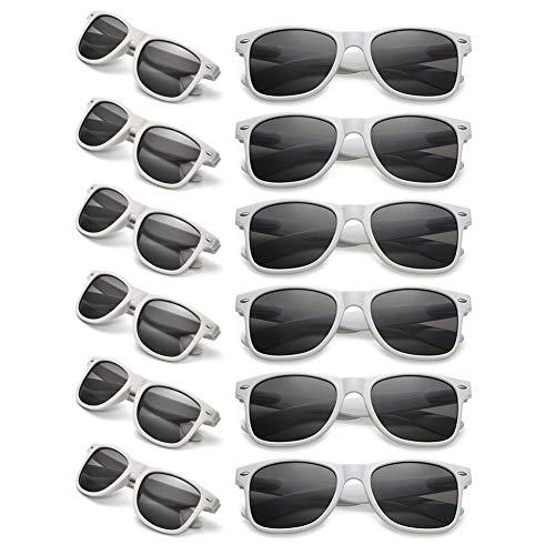 12 Packs Man Women Retro Wholesales Neon Party Favor Sunglasses Accessories