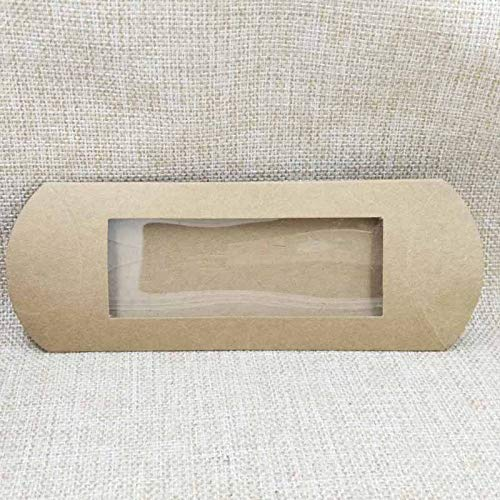 - High Quality | Gift Bags & Wrapping Supplies | 10pc 16 * 7 * 2.4cm Brown/White/Black Cardboard Pillow Window Box with Clear PVC for proucts/Gifts/Favors/Display Packing Show | by NAHASU