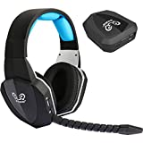 Wireless Optical Stereo Gaming Headset Over ear Comfortable Headphones for PS4 PS3 Xbox 1 Xbox 360 PC Computer with Detachable Microphone(Connect with XBOX ONE via Microsoft adaptor or Kinect)